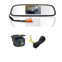 Parking Assistance mirror monitor 4.3Inch car TFT  + ccd hd parking line hd camera system AV2 for back-view camera