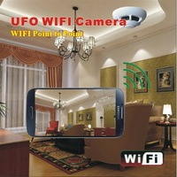 UFO Smoke sensor Detector wireless mini ip camera CCTV camera support iphone Android phone monitor