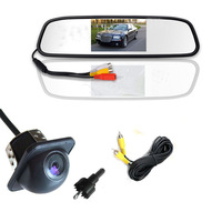 Mirror monitor 4.3Inch car LCD  + car camera  AV2 for back-view camera Good for rear view camera and front camera or car DVD