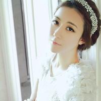 new 2013 The bride hair accessory bling crystal gauze ribbon white with lovely hair accessory elegant headband