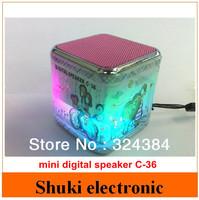 Hot sale mini C-36 speaker with FM radio TF card usb disk , Multimedia audio speaker subwoofer