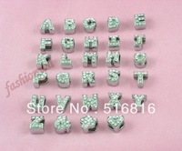 Free shipping diy jewelry ( 26pcs /lot) rhinestone 8mm  rhinestone slide letter charm mix order