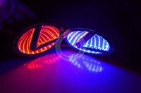 Car LASER/REFLECTIVE 3D LEXUS Car Emblem Light / Auto LED Rear badge logo light /Car Badge Light(Blue / Red / White)
