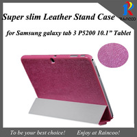 "New arrival for Samsung galaxy tab3 P5200/P5210 Ultra thin silk stylish leather stand case,galaxy tab 3 10.1"" leather cover"