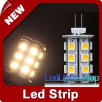 EMS Free Shipping Mini G4 5050 LED Pin Lamp 24 SMD Warm White Light Bulb for Car, Camper, Marine Wholesale 100pcs/lot