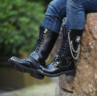 Men's boots 2013 martin boots plus size male high-top shoes boots men's