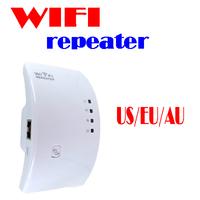 BY DHL OR EMS 20 pieces Wifi Repeater 802.11N/B/G Network Router Range Expander 300M 2dBi Antennas US/EU/AU Plug Retail Box