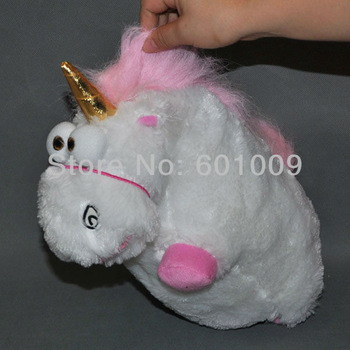 Free Shipping Despicable Me Fluffy Unicorn Plush Toy Doll big 12 inch Fluffy figure gift Retail