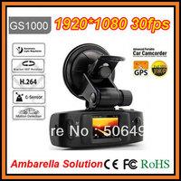Full HD 1920x1080P 30FPS Car DVR Recorder GS1000 GPS G-Sensor 5MP H.264 w/1.5' LCD/HDMI/Seamless Cycle Recording/Ambarella CPU