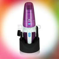 Rechargeable Wireless Vacumm Cleaner suitable for Home and car use Purple and white