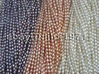 10Strs A 4 5mm Luster Natural Rice Freshwater Pearl