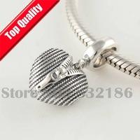 Close my Heart 925 Sterling Silver Dangle Slide Charm Beads for European Thread Troll Charm Bracelet DIY Making YB206