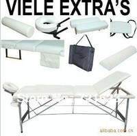 portable 3-section aluminium folding massage table