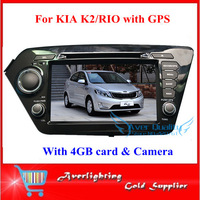 New Arrival original model gps dvd player for KIA K2/RIO 4GB CARD with map and camera free