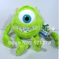 Free shipping 1pcs 25cm Mike Monsters University Monster Mike Wazowski , Monsters Inc plush toys on sale
