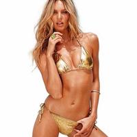 European and American three-piece Swimsuit sexy gold bikini Victoria underwear T thong