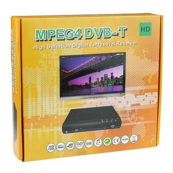 high quality 1080P HDTV MPEG4 DVB-T Digital Terrestrial Receiver with HDMI/USB Host/Scart/CVBS/YPbPr,Free Shipping 1pcs
