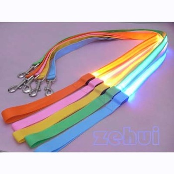 LED Flashing Pet Leash Rope Belt Dog Harness Safety Lead Light dog collar drop shipping & free shipping SL00164