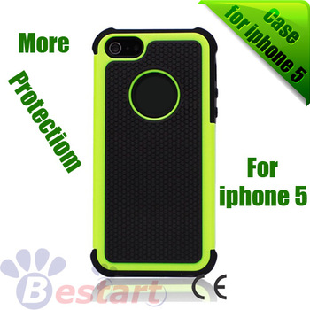 10Pcs/Lot, Robot Design, Silicon + PC Skin Cover Back case for iphone 5 5G, Good Price, Best selling, More Protection