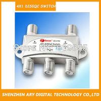 50pc/lot GD-41C 4X1 DiSEqC Switch Singal