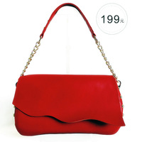 Free  shipping Bird small bags cowhide red bridal bag cowhide women's handbag 2012 bag
