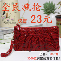 Women's handbag genuine cowhide leather clutch fashion women's day clutch bag evening bag cosmetic bag
