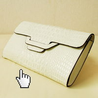 2013 fashion crocodile pattern large female clutch day clutch genuine leather clutch bag women's handbag one shoulder