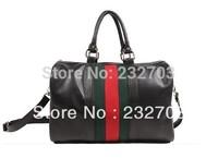 Free Shipping 2013 new fashion Red and green stripes diagonal female bag leisure wild shoulder bag Handbag