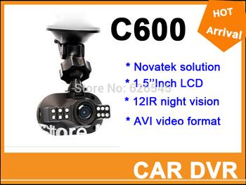 Mini Size Full HD 1920*1080P 12 IR LED Vehicle CAM Video Camera C600 Recorder Car DVR