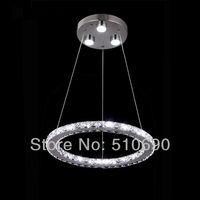 JEZZ LIGHTING/Pendant lights/hanging/MODERN LIGHTS/Hi-Quality/Samsung LED /K9 CRYSTAL/one Ring DESIGN/FREE SHIPPING/Discount