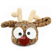 Best Selling 5pcs/lot Baby Infant Toddler Deer Pattern Handmade Crochet Knit Beanie Hat Photo Prop Cap 15305