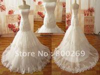 2012 Free Shipping Stylish Mermaid Lace Beads Layer Bridal Gown/Wedding Dresses SL-9280