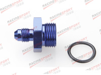 AN -6 AN6 to -10AN 7/8-14 UNF stright cut male Adapter With O-Ring AD46005 blue
