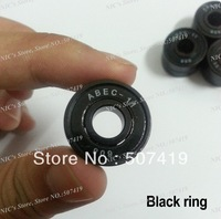 (1000pcs/lot) Free shipping Black Ring 608 ABEC 11 bearing, high quality ABEC 11 ball bearings for scooter, scooter bearing
