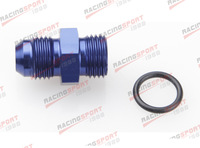 8 AN 8AN Male Flare To -8 AN Straight Cut O-Ring Fitting AD46006 blue