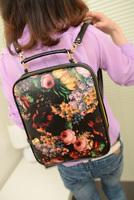 2014 new printing female bag roses canvas women handbag package