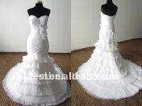 SL-X0205 Romantic Chapel Train Sweetheart Mermaid Wedding Dress