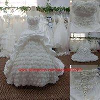 Designs wedding dress ball gown sweep train SL-4018