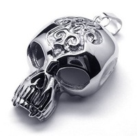 316l stainless steel pendant skull necklace