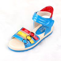 Pig 2013 summer sandals female child princess sandals color block children shoes candy color