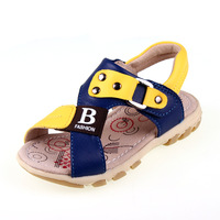 Pig 2013 male child sandals genuine leather summer sandals handsome male child shoes sandals