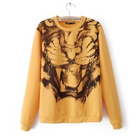 European style 2013 Hitz sweater Tiger printing long-sleeved sports jacket sweater women