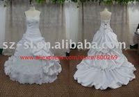 Plus size Ball gown wedding dress satin floor-length SL-4272