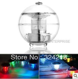 FEDEX free shipping wholesales 16pcs/lot ps solar float light globe cheap led garden lighting Powered Highlight LED Water lamps(China (Mainland))