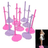 Wholesale 10pcs Dolls Toy Stand Support for Barbie Girls Prop Up Mannequin Model Display Holder Purple Pink Color