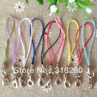 Free Shipping Cell Phone Strap Lariat  nylon cord with slive mixed colors  cell phone hangings mobile phone chain  500pcs/lot