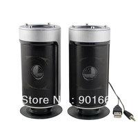 4W USB 2.0 Stereo Multimedia Speakers for Desktop PC Subwoofer (Silver)
