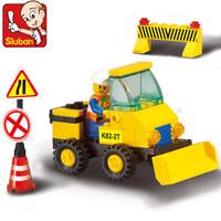 Sluban Blocks Heavy Engineering Series Bulldozer 47pcs/set M38-B9300 Children's Enlightenment Educational Blocks Toys