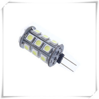 free shipping 10pcs G4 24 LED 5050 SMD 360 Degree White Car Marine Camper RV Light Lamp Bulb DC12V
