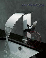 LD-ZT801 Free Shipping New Bathroom Deck Mount Single Hole Chrome Faucet Waterfall Tap